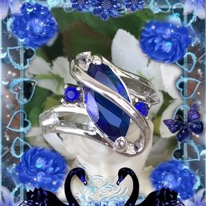 Jewelry - ❤️🌴🌺 ROYAL BLUE TOPAZ RING 🌺🌴🌺